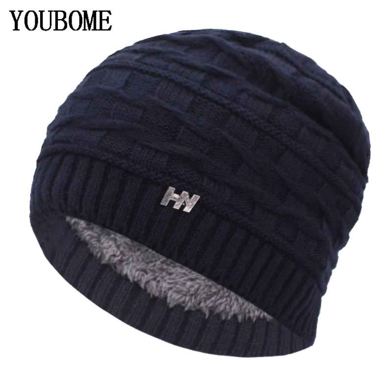 Youbome Skullies Beanies Winter Hats For Women Knitted Hat Men