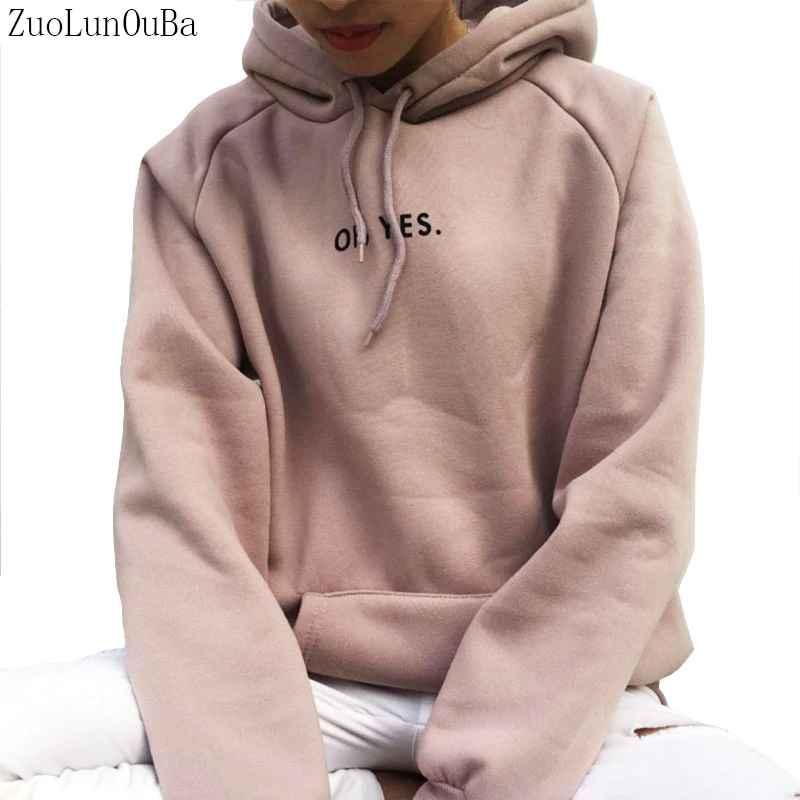 Sweaters zuolunouba autumn winter fashion women fleece thickening long sleeve