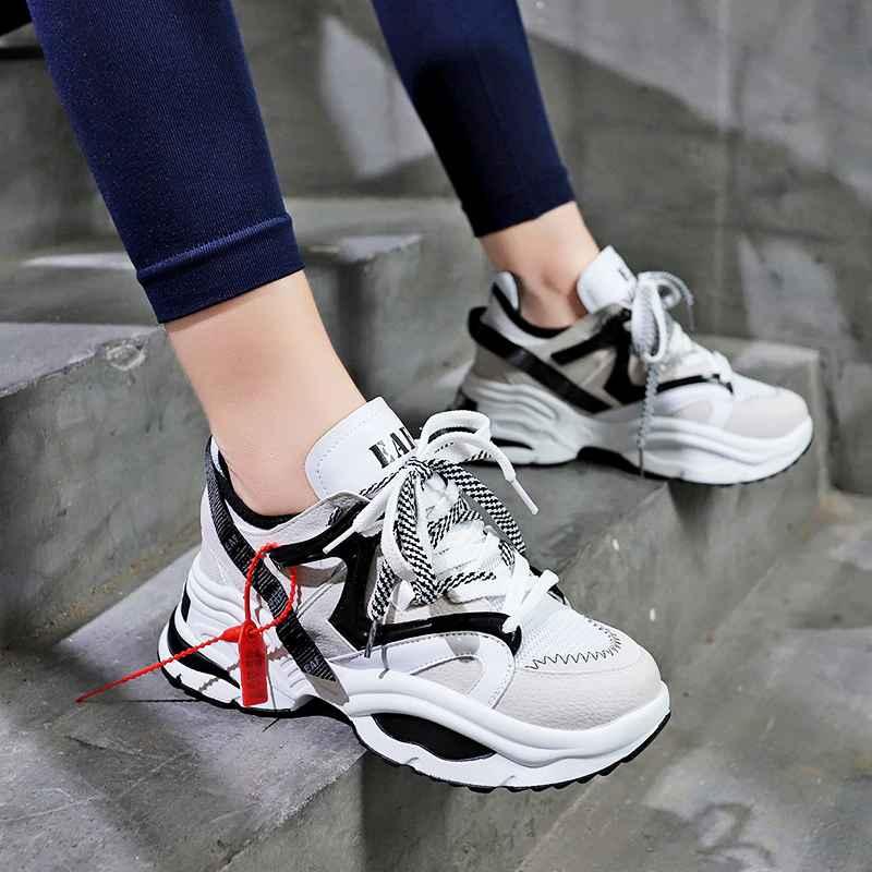 Stylish Women Running Shoes Increasing 6cm Ins Ulzza Harajuku Sneakers