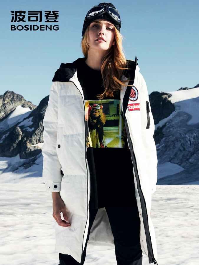 New Goose Down Jacket Women Long Hooded Parka Waterproof Windproof