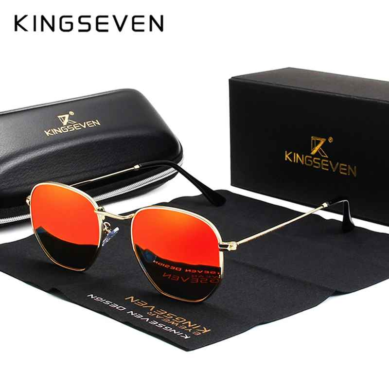 2019 Classic Reflective Sunglasses Men Hexagon Retro Sun Glasses Stainless