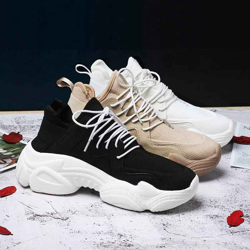 2019 New Womens Chunky Sneakers Basket Women Casual Platform Shoes