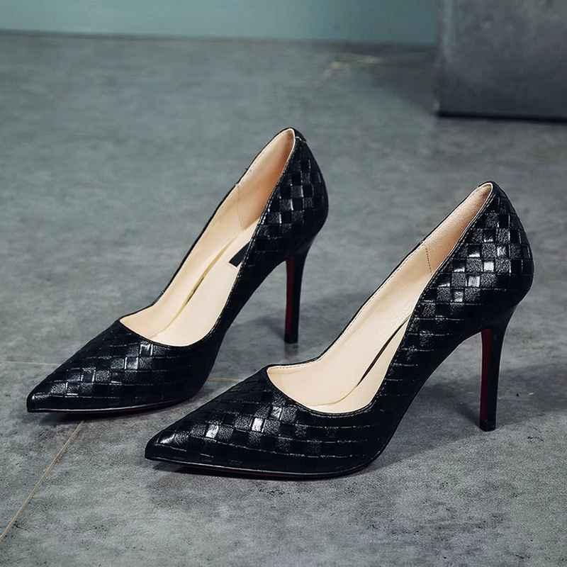 Womens Pumps Women Shoes Thin High Heels Shoes Elegant Red
