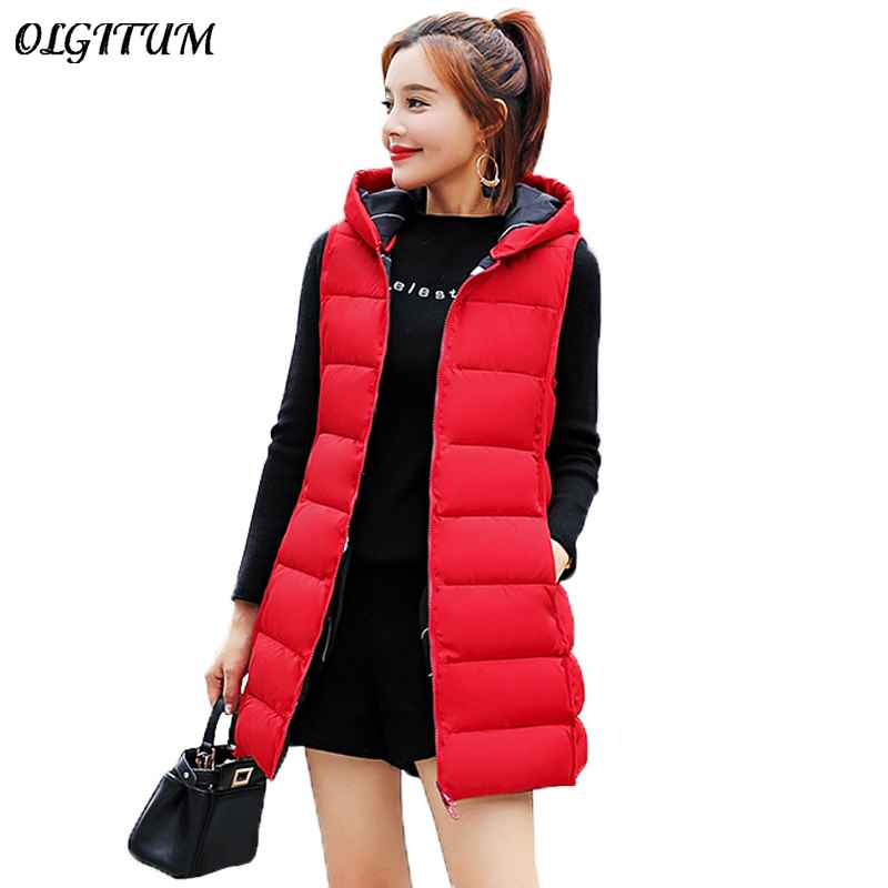 New Waistcoat For Women 2019 Winter Jacket Thicken Warm Long