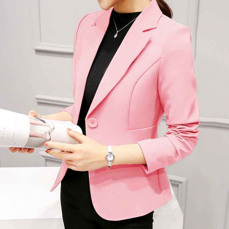 Blazers elegant business lady jacket new 2019 women full sleeve