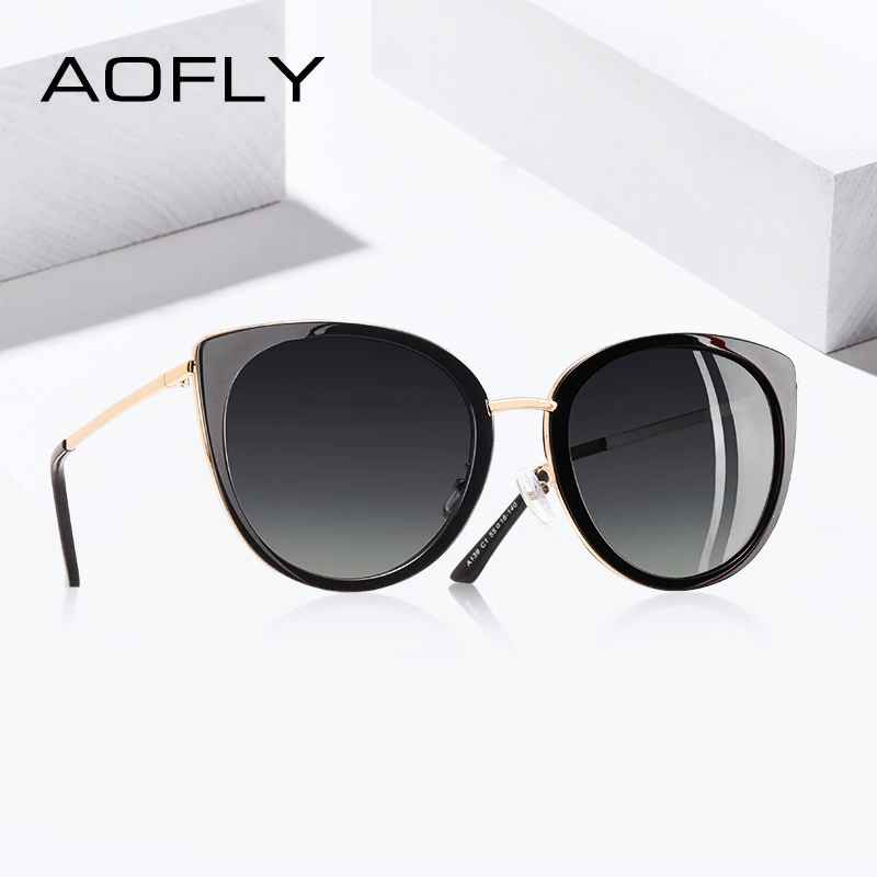 2020 Brand Design Cat Eye Sunglasses Women Vintage Ladies Polarized