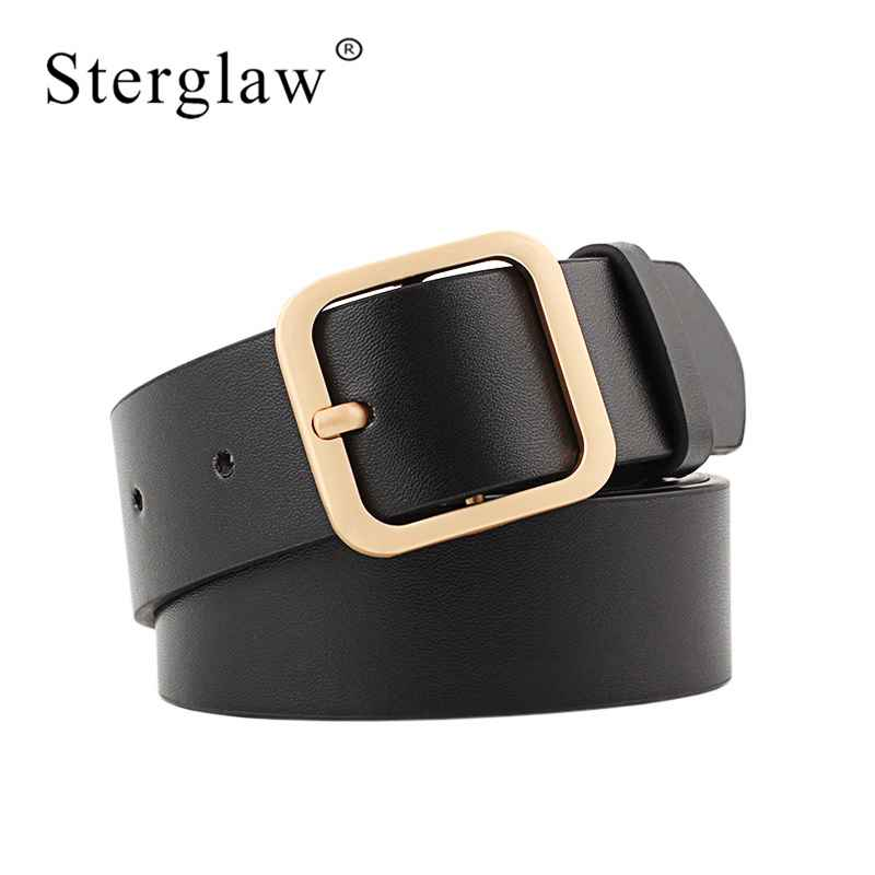 90-110x3.3cm New Wide Leather Waist Strap Belt High Quality Women