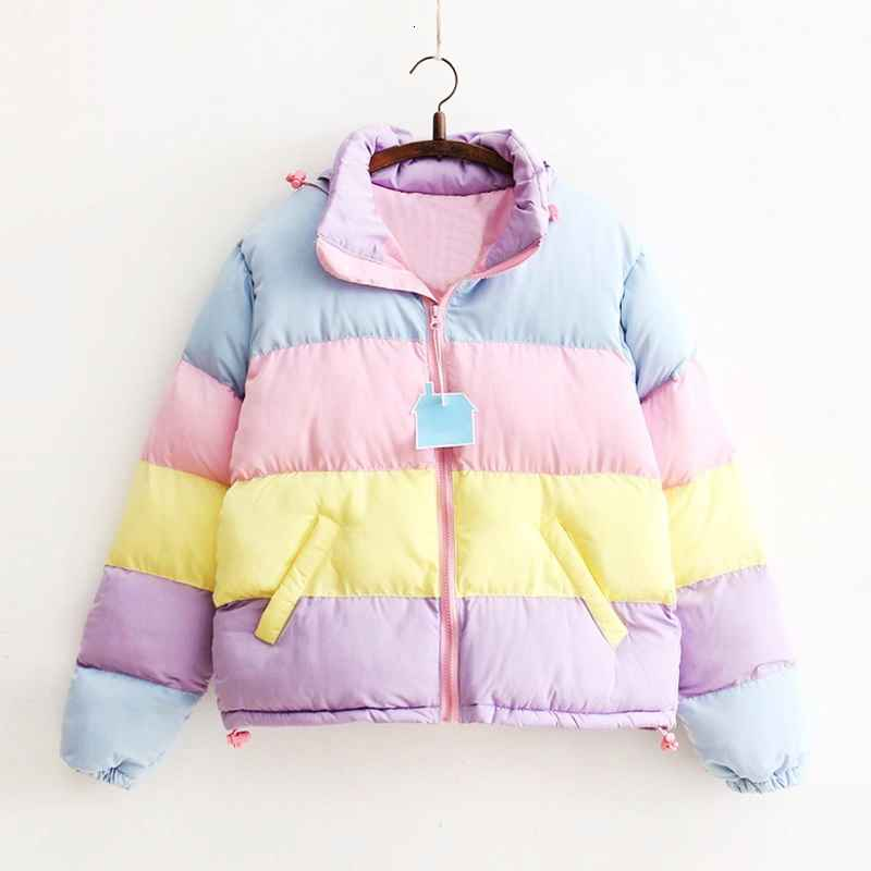 Parkas women coat oversize harajuku parkas short padded casual warm