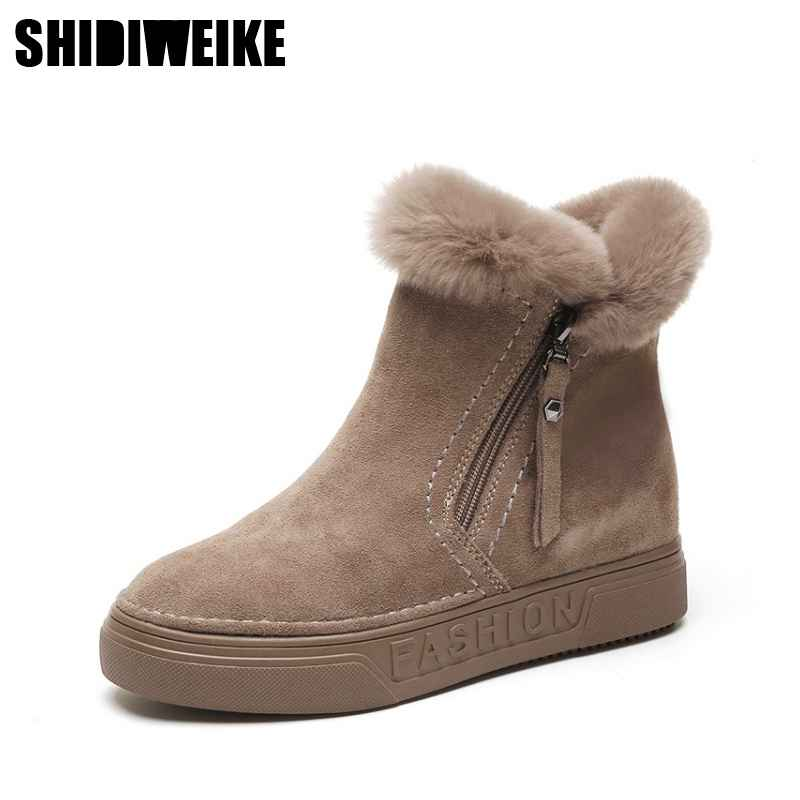 Winter Boots Warm Snow Boots Suede Leather Boots Women Shoes