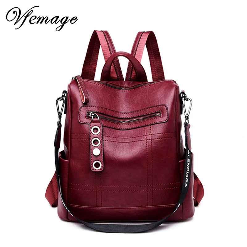 Designer Women Backpack Leather Female Backpack School Bags For Teenager