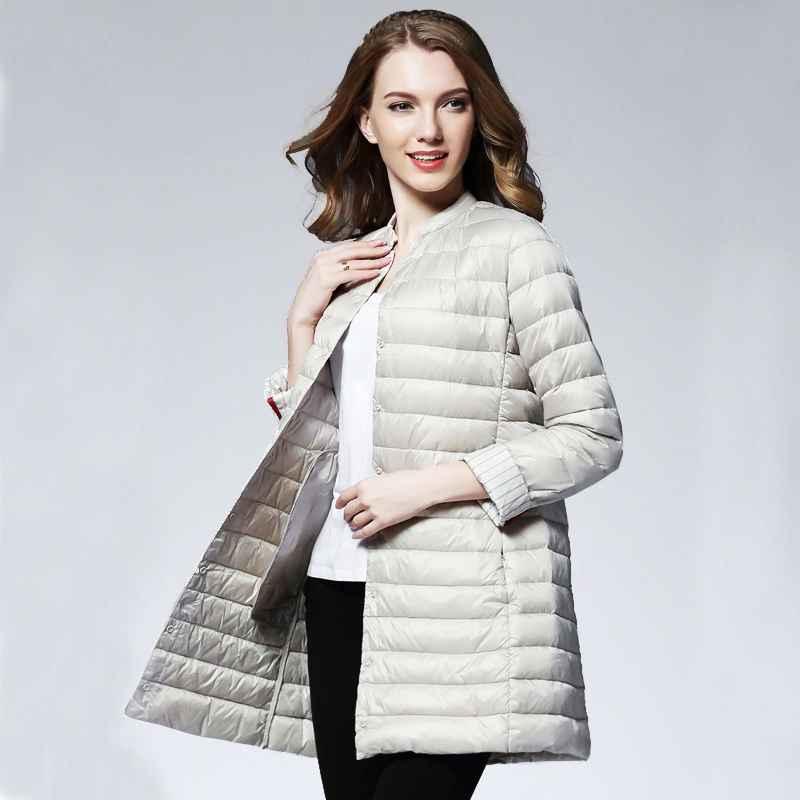 Coats woman spring padded warm coat ultra light duck down