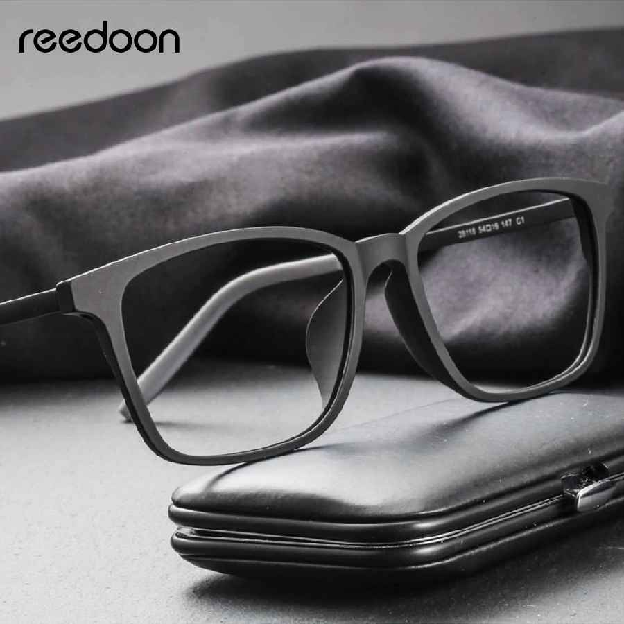Reedoon Optical Eye Glasses Frame Ultralight Square Prescription Eyeglasses Plastic