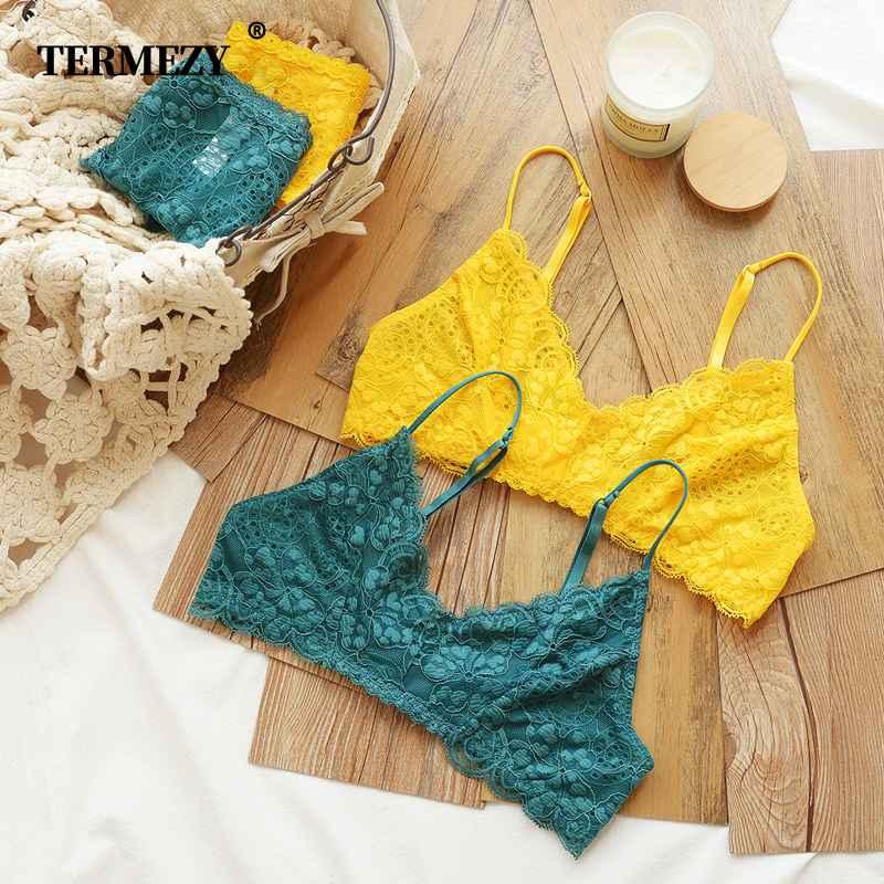 Termezy Women Lace Bra Set Lingerie Set Sexy Women Underwear
