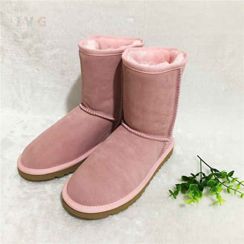 Hot Australian Style Women Unisex Snow Boots Waterproof Winter Leather
