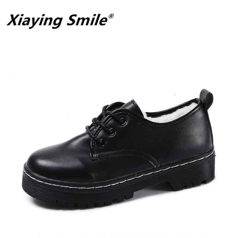 Xiaying Smile Autumn Winter Women Fashion Pumps New Style Solid