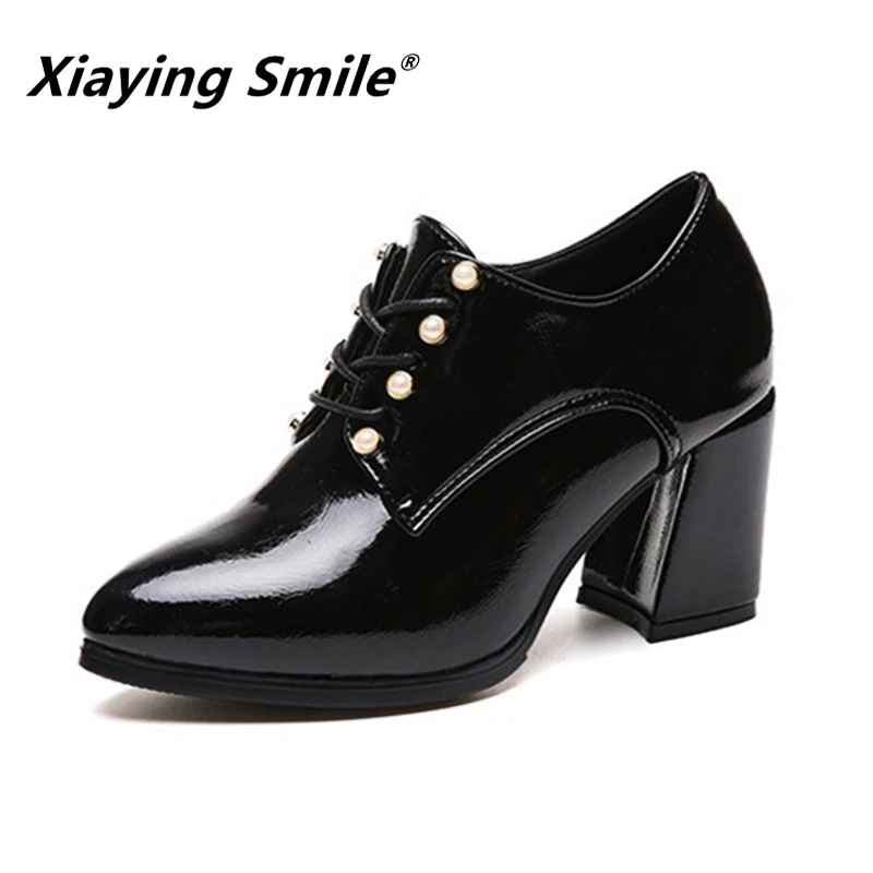 Xiaying Smile Women Heel Pumps New Fashion Casual Shoes Spring