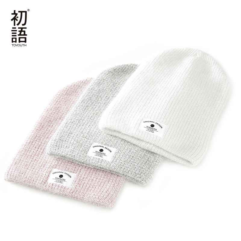 Toyouth Soft Knitted Women Hats Winter Womens Warm Hat Ladies