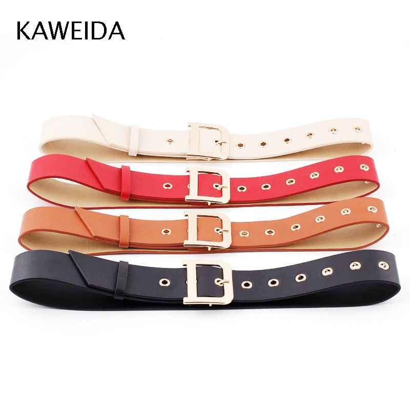 Kaweida 2019 High Quality Women Fashion 4.8 Cm Wide Pu