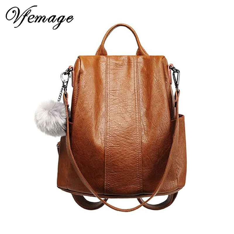 High Quality Leather Backpack Women Multifunction Backpacks Small Anti Theft