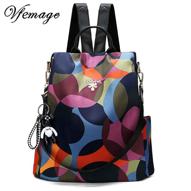New Backpack Women Oxford Multifuction Bagpack Casual Anti Theft Backpack