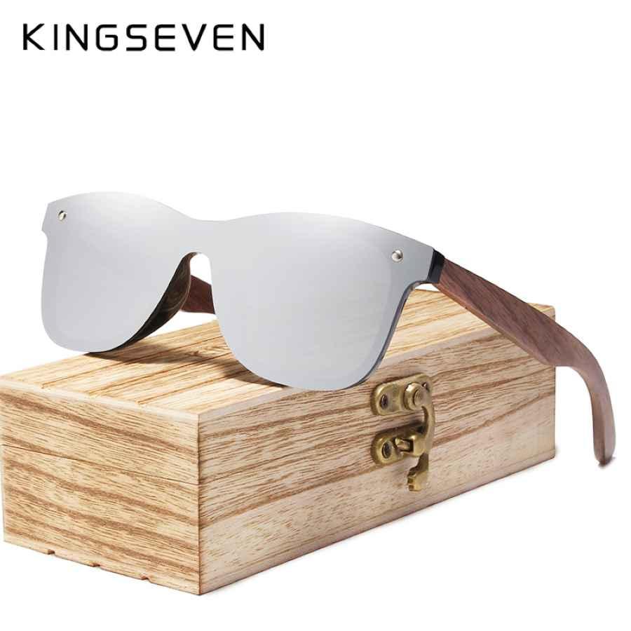 2019 Mens Sunglasses Polarized Walnut Wood Mirror Lens Sun Glasses