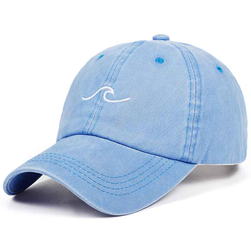 2018 New Design Washed Dad Hats Women Men Sea Wave