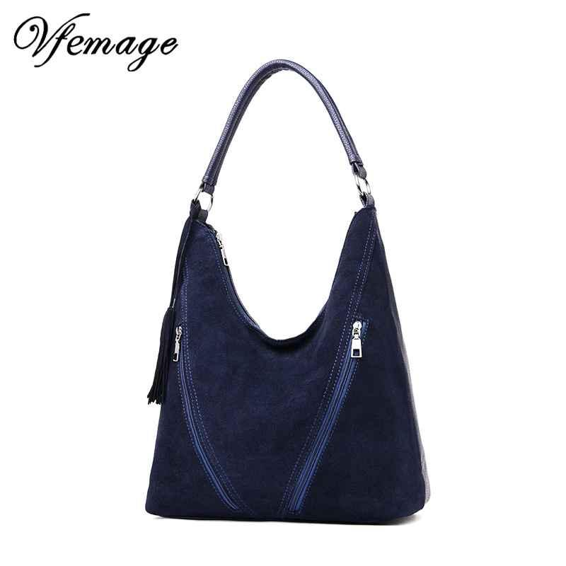 Leather Handbags Women Bags Designer Female Suede Shoulder Crossbody Bag