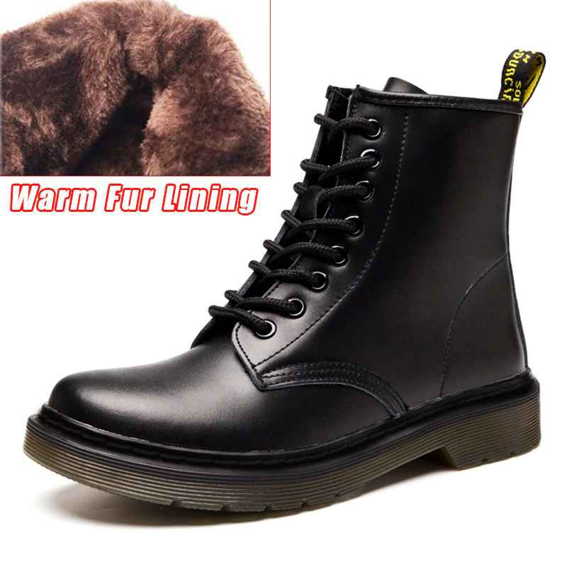 Quanzixuan Genuine Leather Women Boots Dr Ankle Boots Winter Work