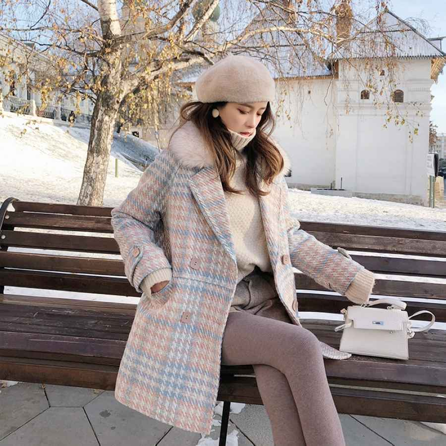 Mishow 2019 Women Coat Outerwear Winter Clothing Fashion Warm Woolen