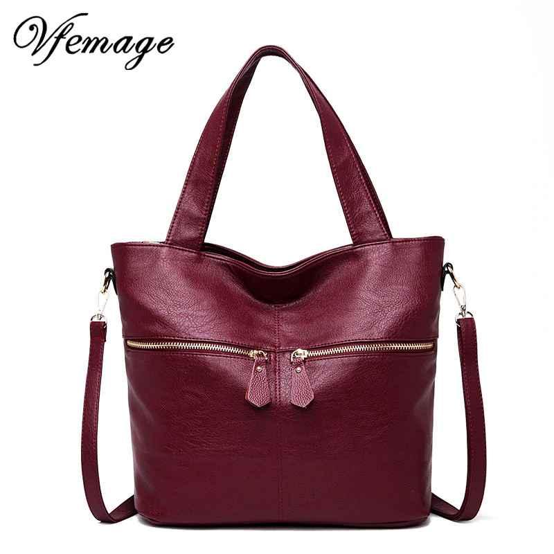 Soft Leather Bag Women Handbags Large Capacity Tote Bag Female