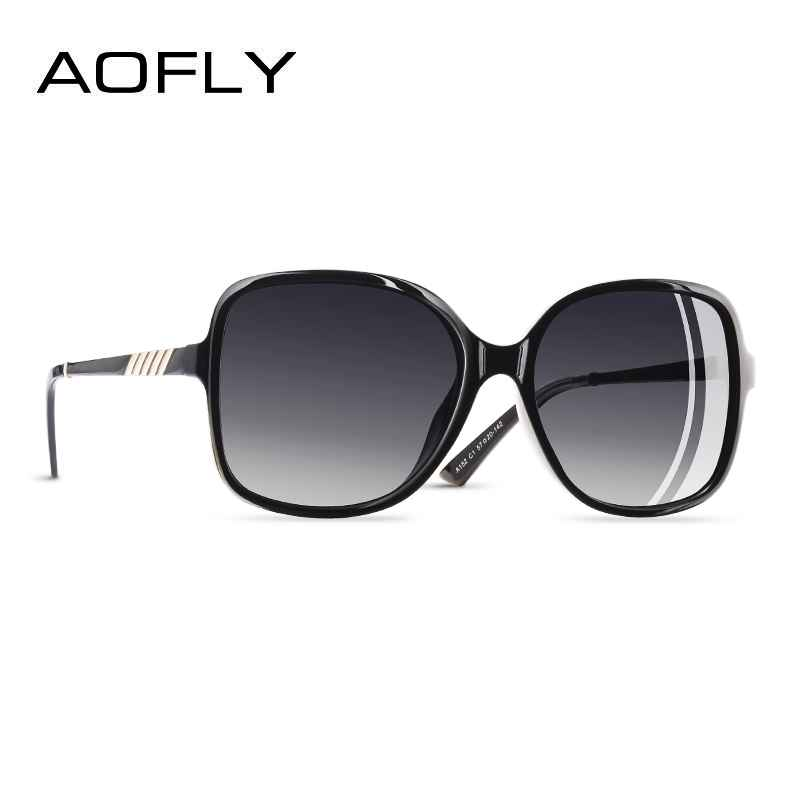 Elegant Sunglasses Women Oversized Frame Polarized Ladies Sun Glasses Uv400