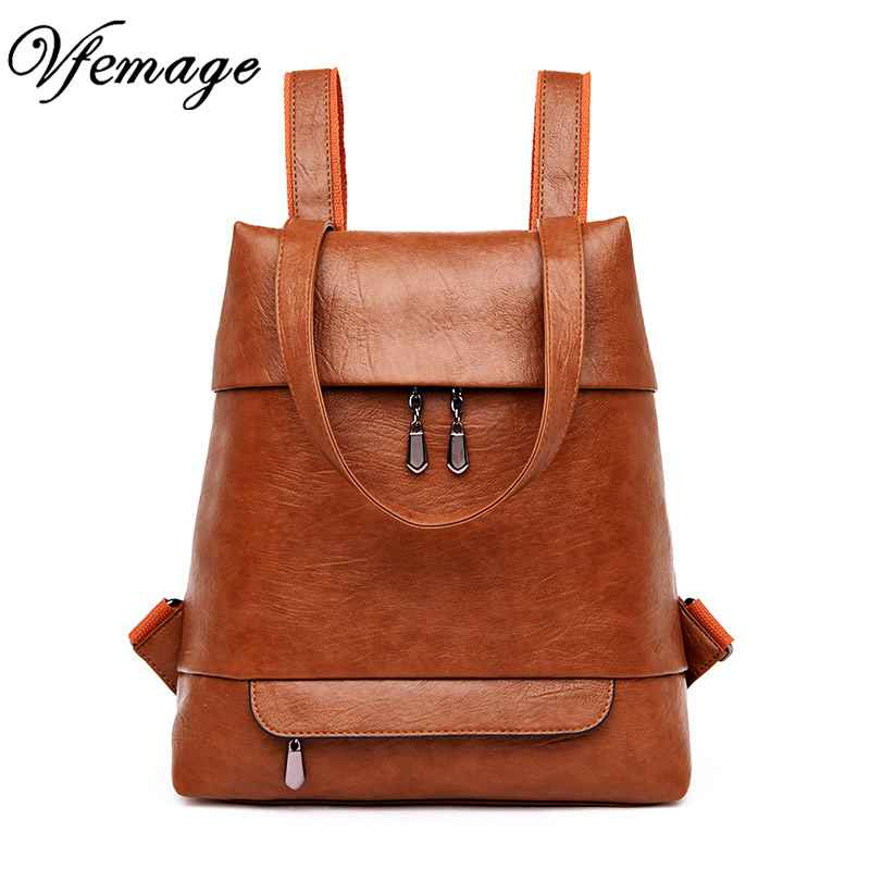 Leather Backpack Women Bags High Quality Female Small Multifunction Backpacks