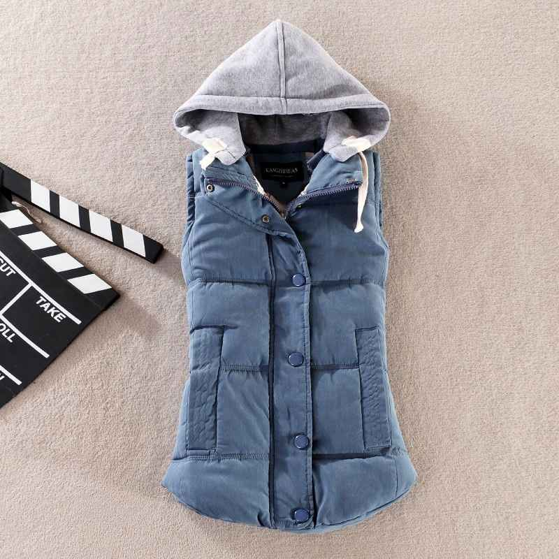 Plus Size 6xl Autumn Woman Winter Warm Down Vests Female