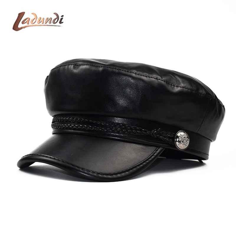Beret Female Autumn Winter Hats For Women Ladies 100% Pu
