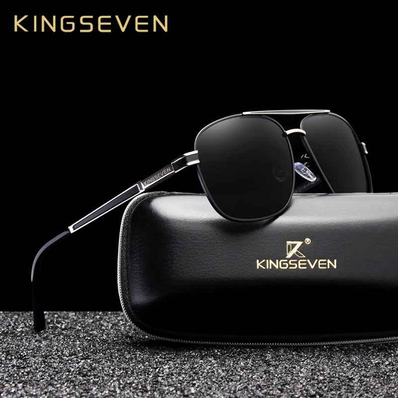 Brand Design Square Men's Polarized Sunglasses Stainless Steel Designer Eyewear