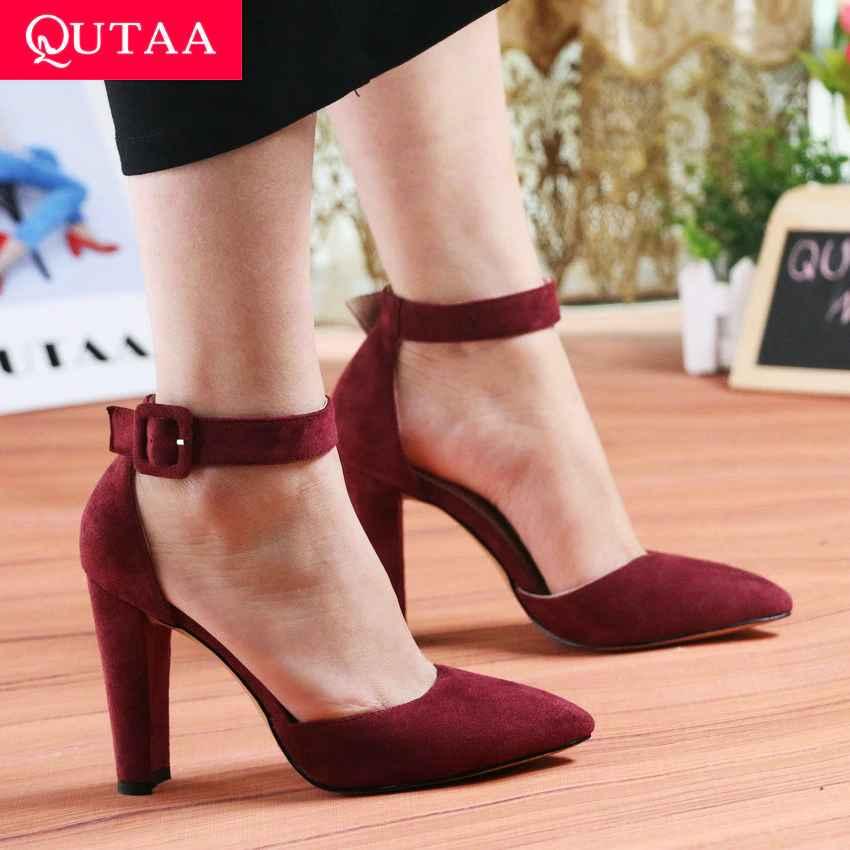 Qutaa 2020 Women Pumps Fashion Women Shoes Party Wedding Super