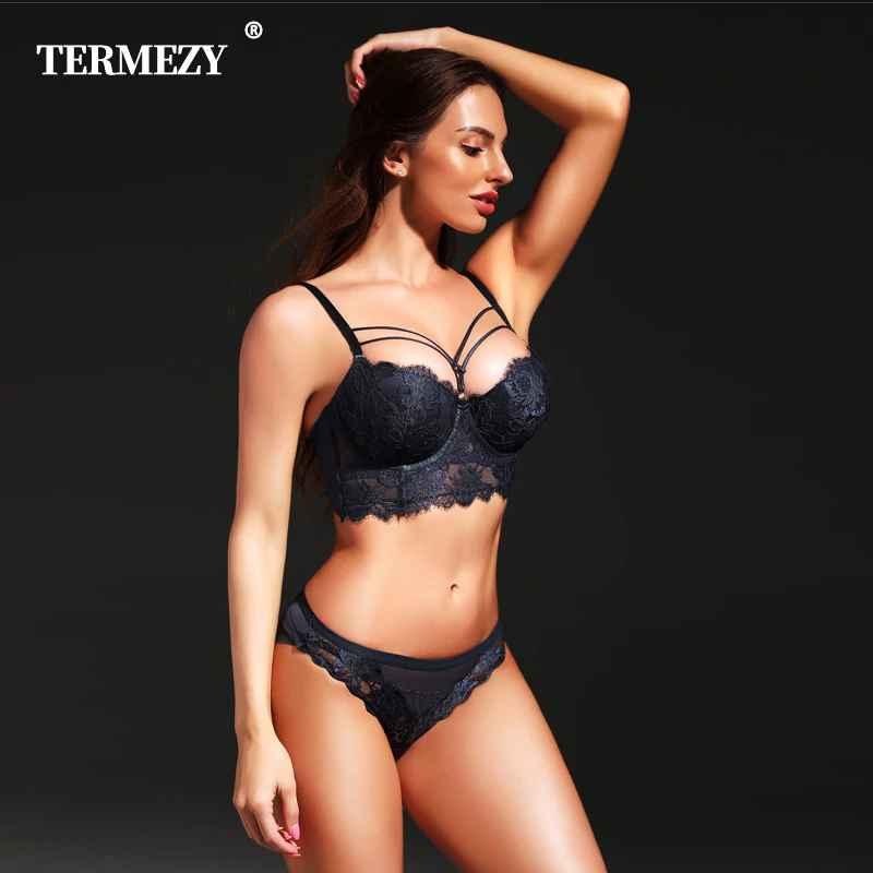 New Lingerie Sexy Underwear Set Women Bra Push Up Brassiere