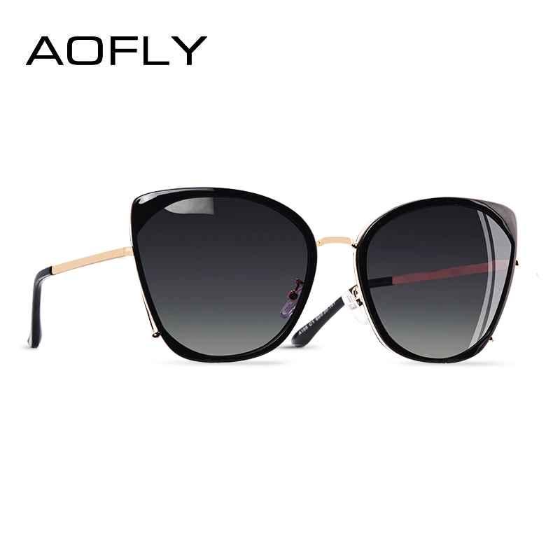 Fashion Ladies Cat Eye Sunglasses Women Polarized Sunglasses Female Unique