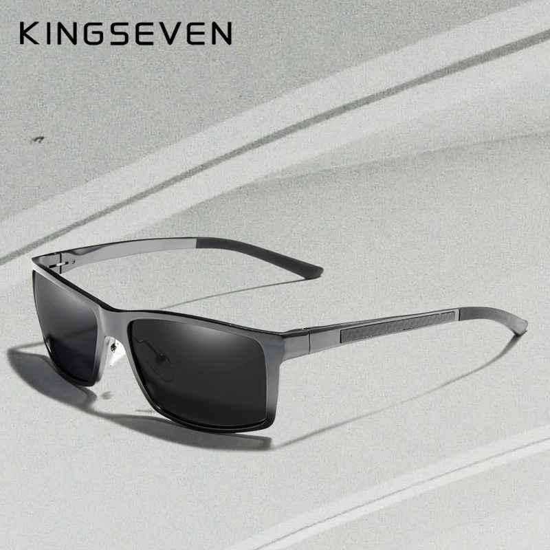 Brand Design Aluminum Polarized Sunglasses Man Driving Shades Gray Square