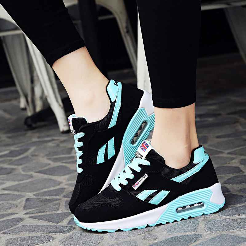Gtime Women Air Cushion Sports Shoes Outdoor Running Lace Up