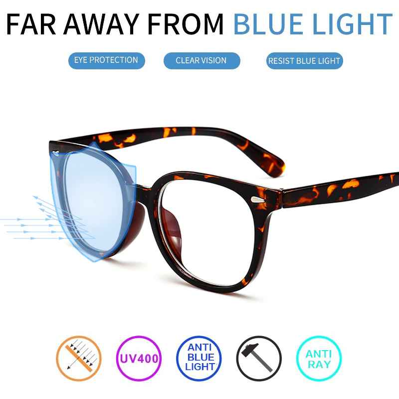 Cubojue Computer Glasses Men Women Leopard Black Blocking Blue Light