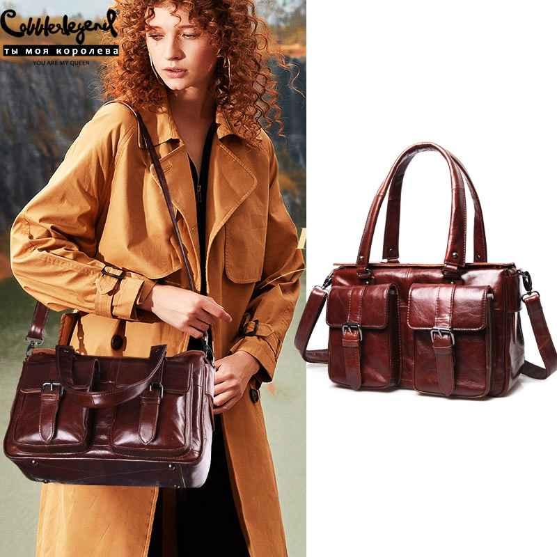 Tote Bags For Women 2019 Handbag Genuine Leather Hobo Bag