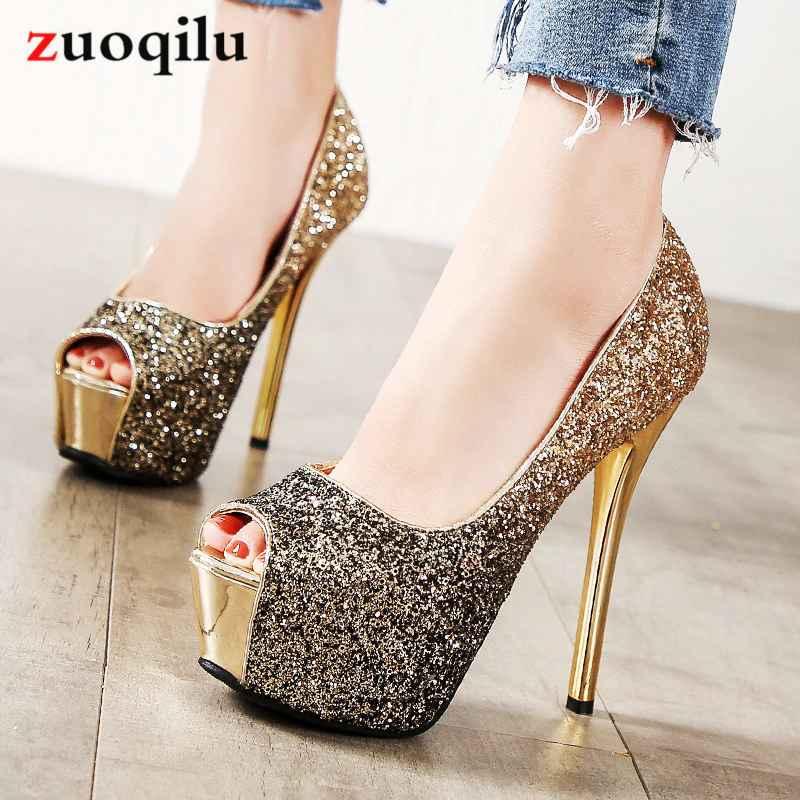 High Heels Platform Heels Shoes Woman Peep Toe Pumps Women