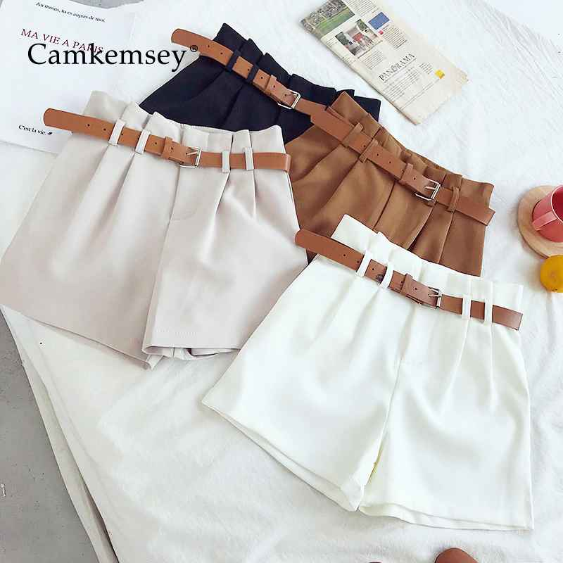 Shorts camkemsey korean brief design white suit shorts for women