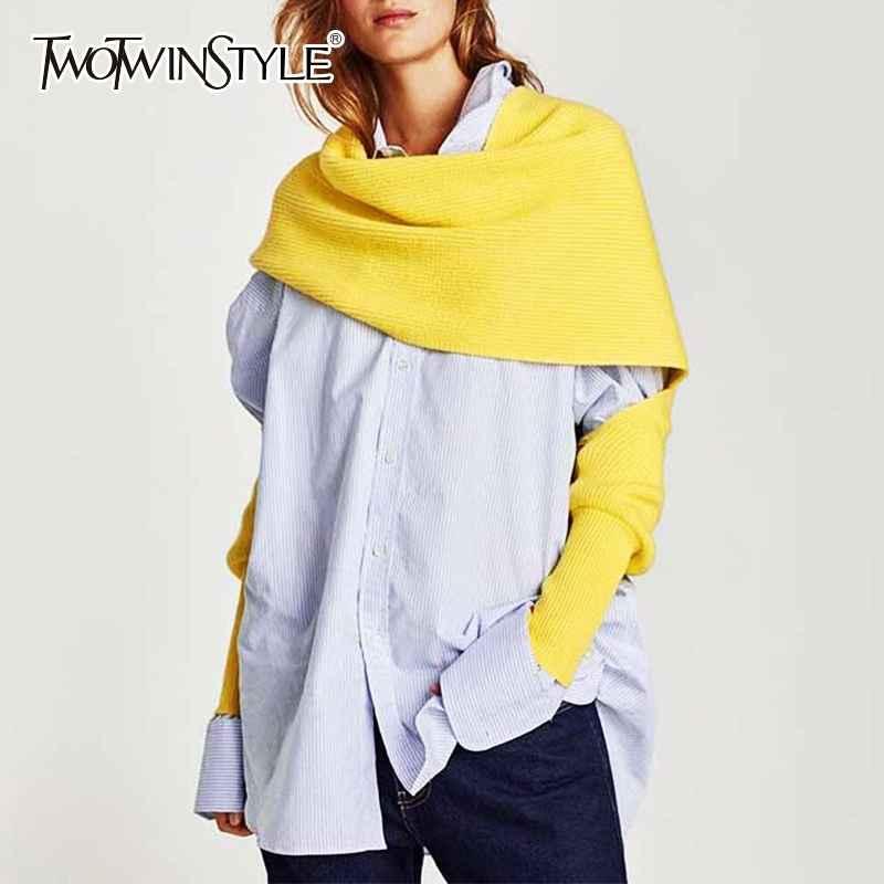 2019 Spring Autumn Knitting Scarves For Women Plus Thick Warm