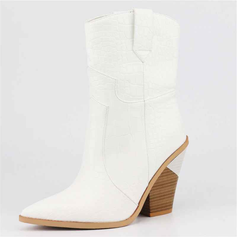 Morazora 2019 New Brand Women Boots Pointed Toe Wedges Shoes