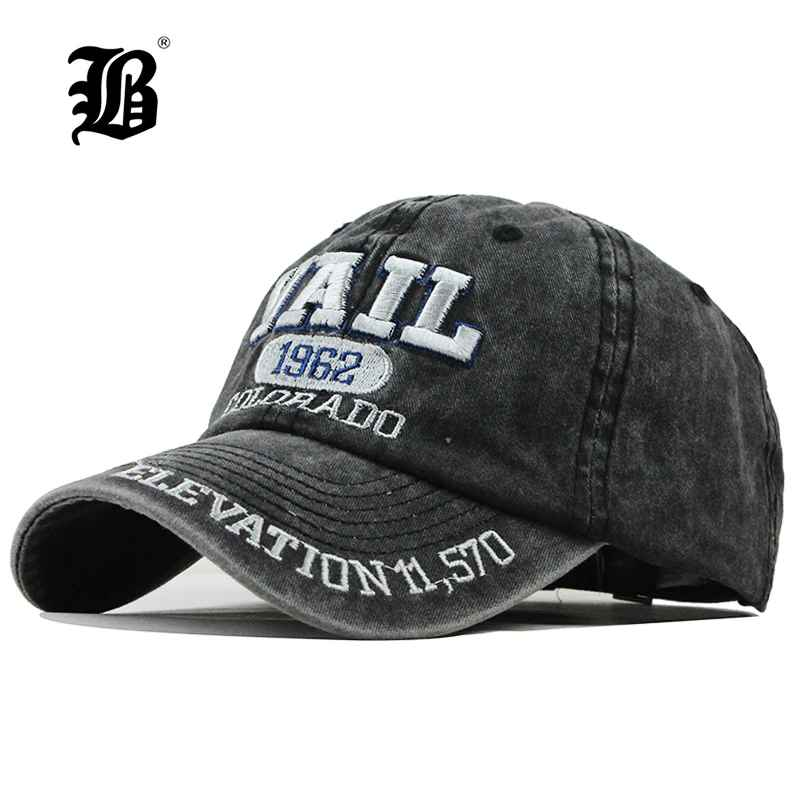 Flb New Washed Cotton Baseball Cap 2019 Snapback Hat For