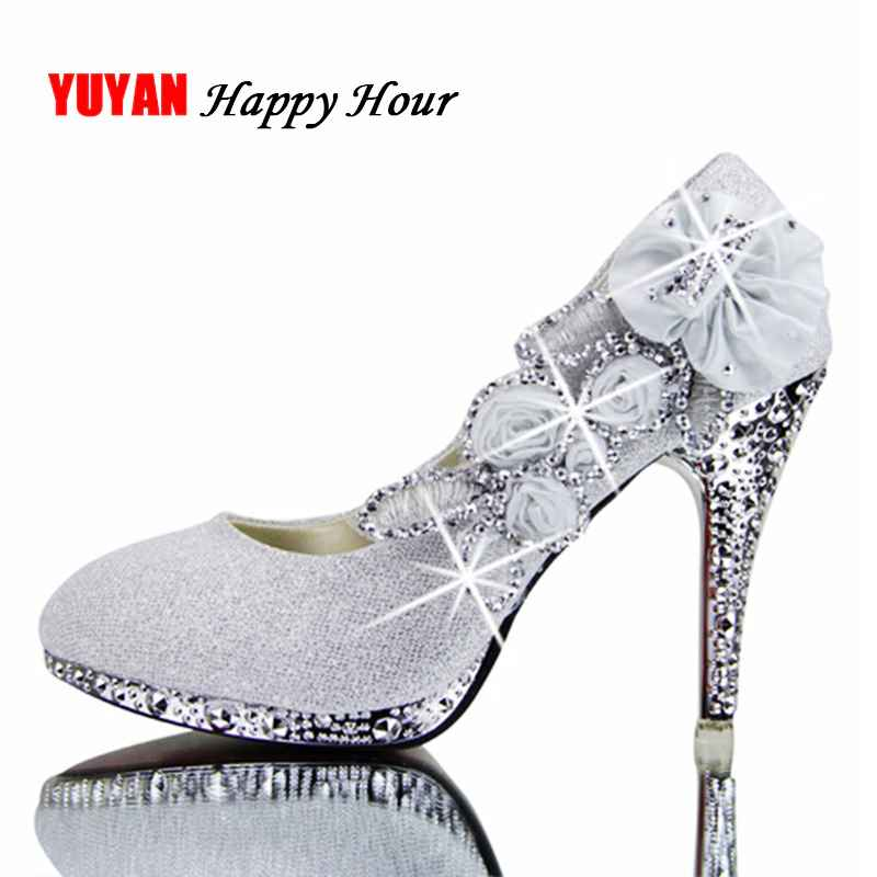 2019 Colorful Wedding Shoes Women Pumps Sexy Ladies Super High