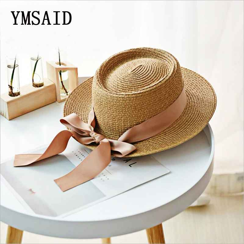 Ymsaid New Summer Sun Hats Women Fashion Girl Straw Hat