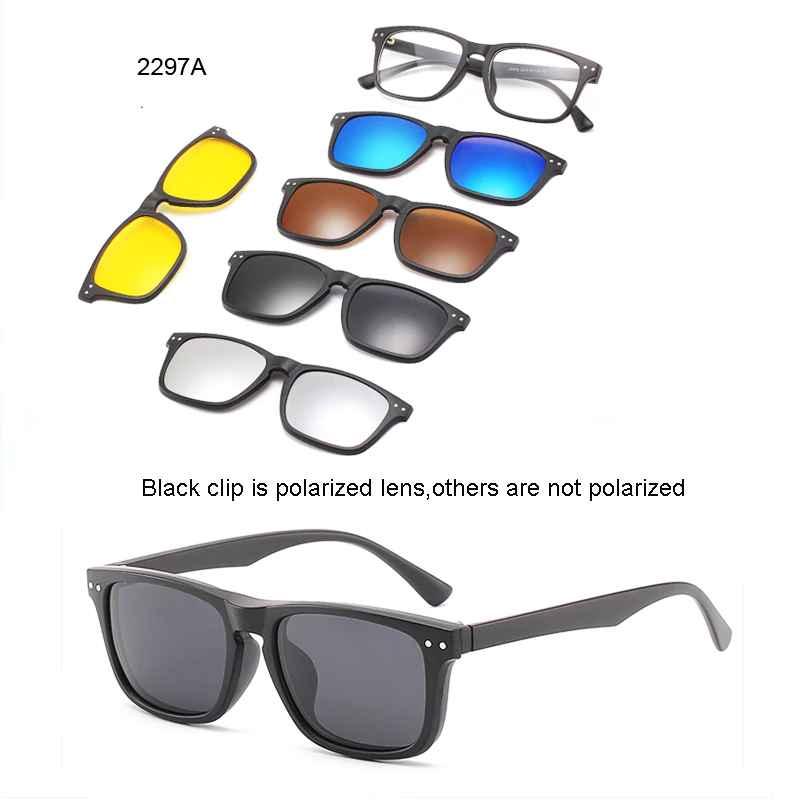 5 Lenes Magnet Sunglasses Clip Mirrored Clip On Sunglasses Clip